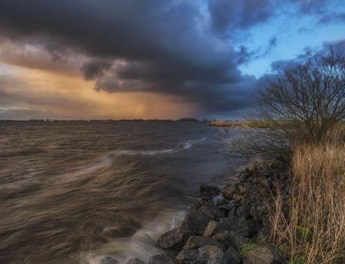 Hagelbui boven Heegermeer
